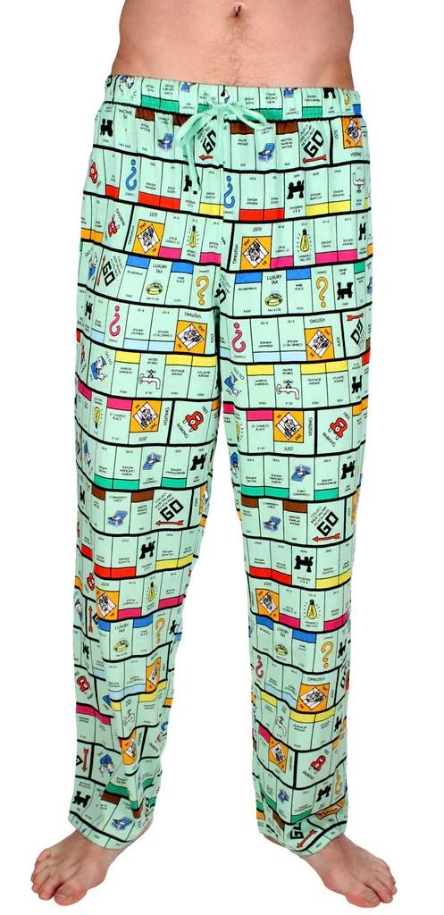 Mens Monopoly Board Pajama Pants Free Shipping
