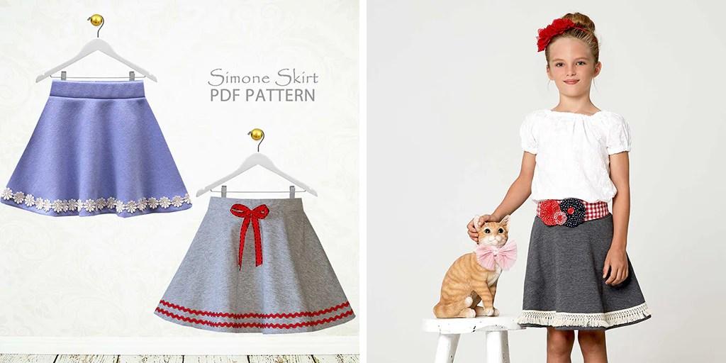 girls stretch skirt pattern