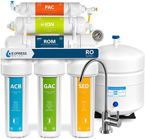 6 stage superb taste high capacity under sink reverse osmosis drinking water filter system with alkaline remineralization natural ph