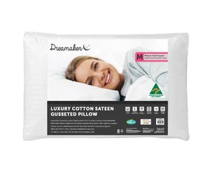 luxury cotton sateen gusseted pillow