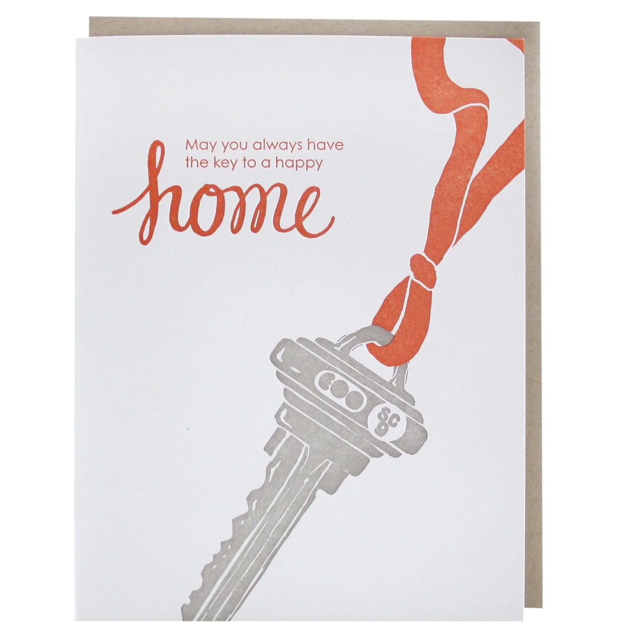 Key To New Home Card New Home Congratulations Smudge
