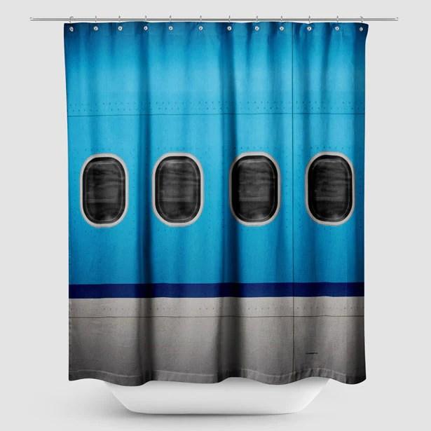kl plane shower curtain