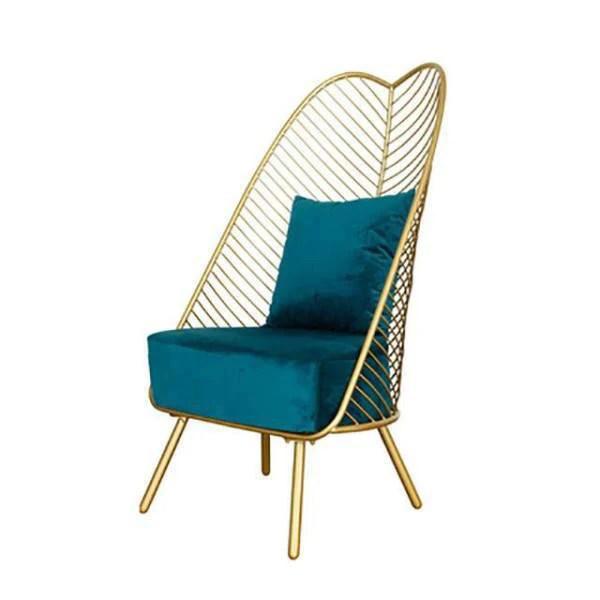 chaise nordique bleu canard