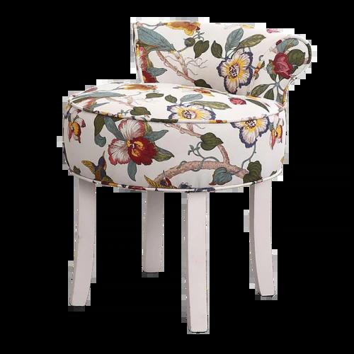 chaise scandinave patchwork en tissu multicolore
