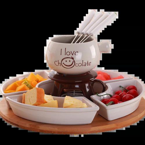 appareil fondue chocolat bougie service complet