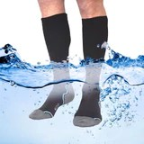 EDZ Calf Length Waterproof Socks with Merino Lining Black