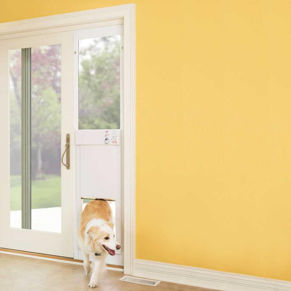 high tech power pet automatic patio pet door
