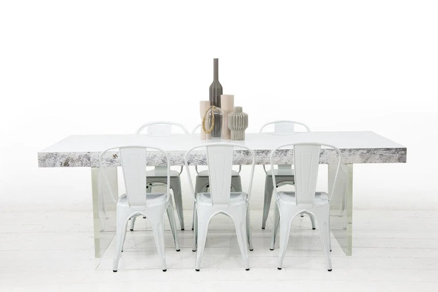 Modern Dining Table In Recycled Wood