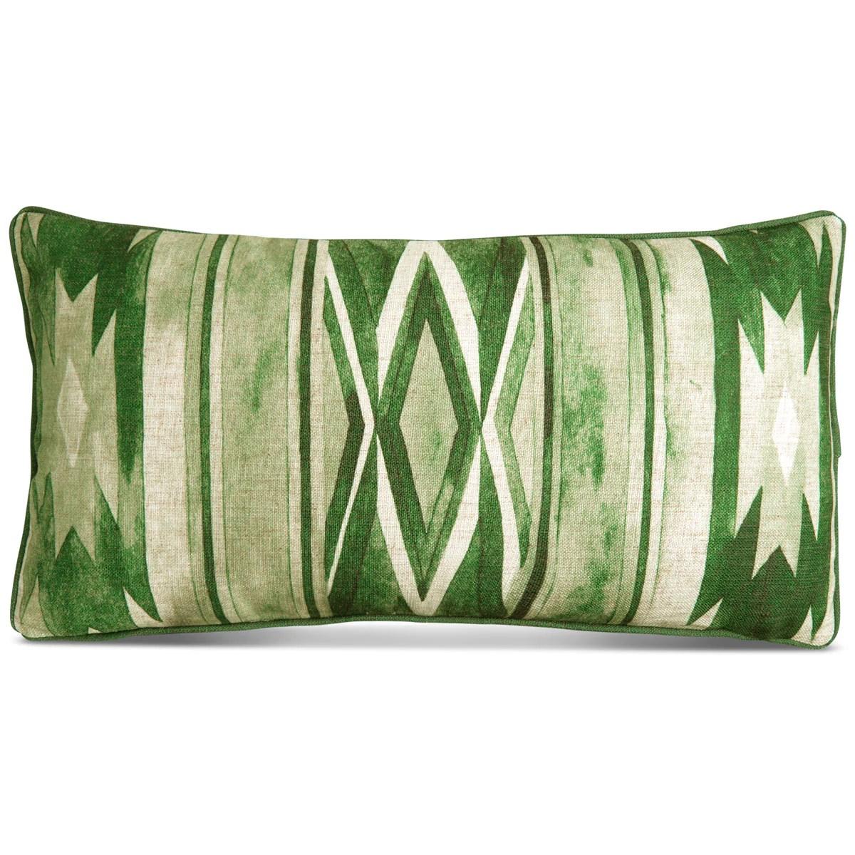 southwest lumbar pillow in hunter green