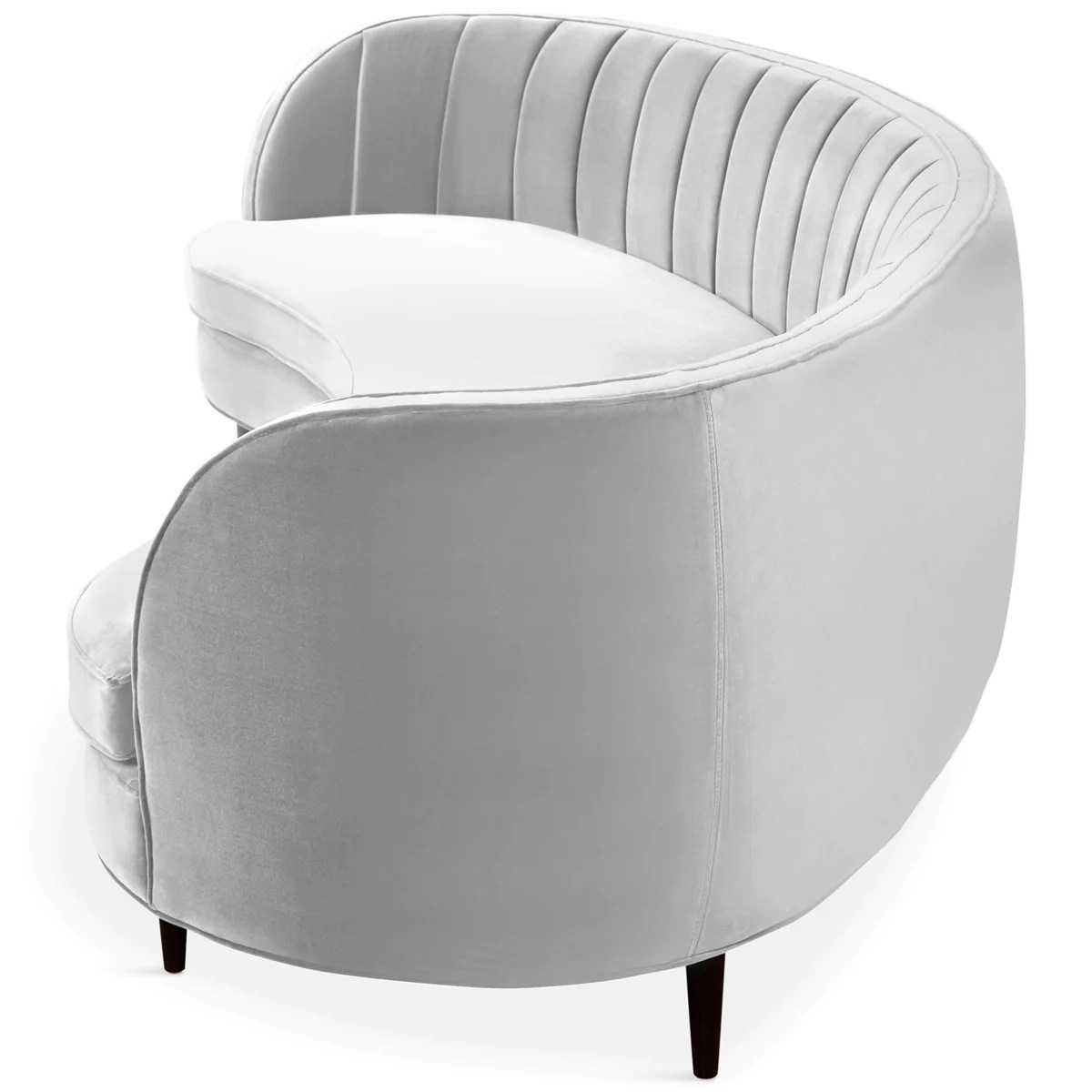 St Tropez 2 Curved Sofa With Channel Tufting Modshop