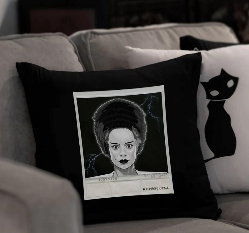 pillowcase only bride of frankenstein pillowcase throw pillow case home decor home garden