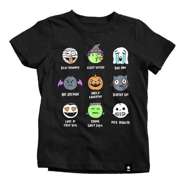 Halloween Emojis T Shirt Kids Stately Type