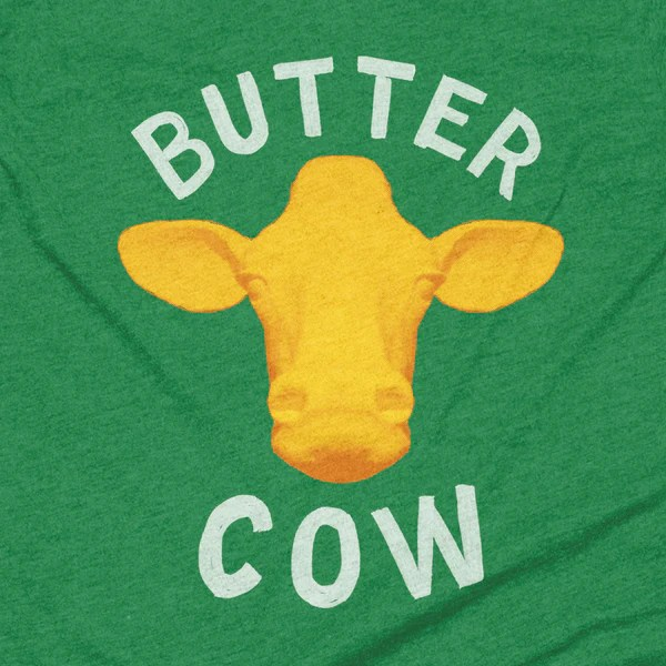 Iowa Butter Cow T Shirt Stately Type