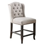 Nail Head Trimmed Wing Back Button Tuft Dining Chair 24 7 Shop At Home