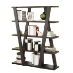 Modern Bookshelf With Inverted Supports Open Shelves Adams Furniture
