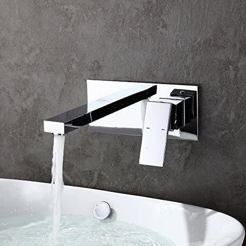 modelisation exquise robinet mural salle de bains mitigeur encastrable laiton chrome pour vasque