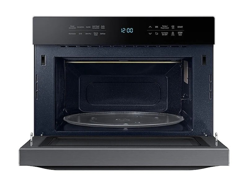 samsung mc12j8035ct 1 2 cu ft powergrill duo countertop microwave with power convection and built in application in black