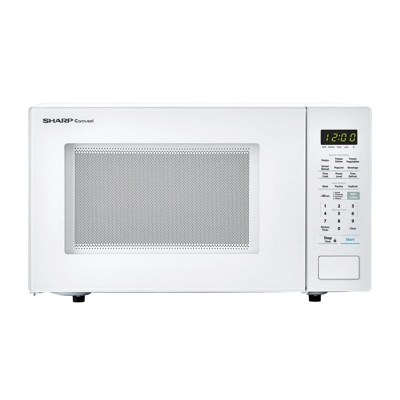 sharp smc1441cw 1 4 cu ft 1000w sharp white countertop microwave oven