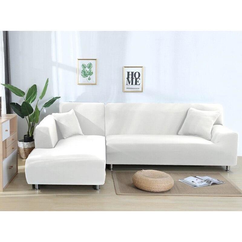 housse blanc canape d angle classique