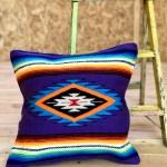 Mexican Serape Style Throw Pillow Cover Deep Purple Diy A Gogo