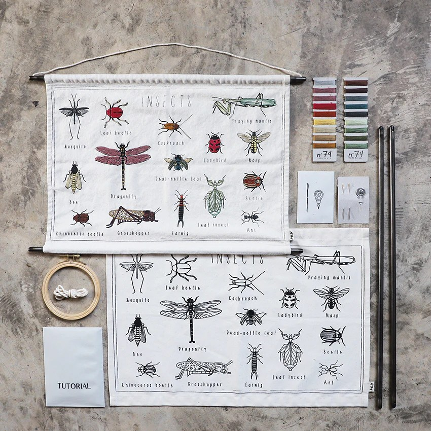 school poster embroidery kit n 74 e shop