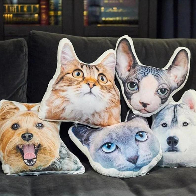 pet portrait pillow dog face pillow custom pillow for your own dog
