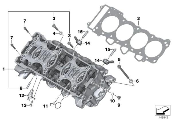 BMW S1000RR CYLINDER HEAD  CAMSHAFT POSITION SENSOR (2015