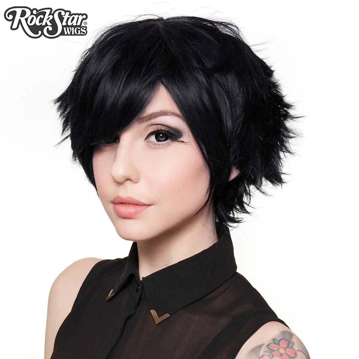 Cosplay Wigs USA Boy Cut Short Black 00258 Dolluxe