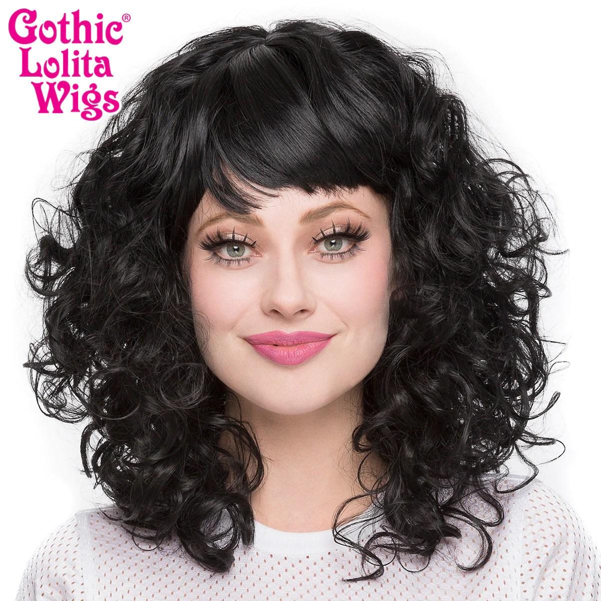 Gothic Lolita Wigs Bijou Black 00441 Dolluxe
