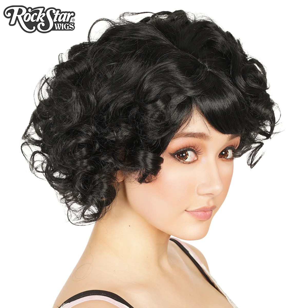 Gothic Lolita Wigs Curly Bob Black Mix Dolluxe