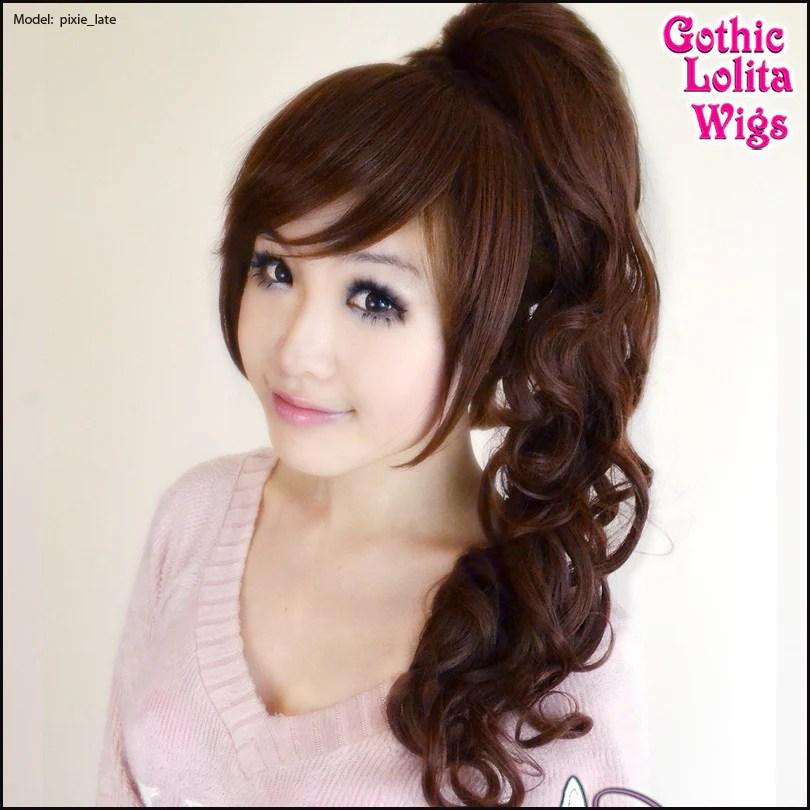 Gothic Lolita Wigs Pixie Collection Ponytail 1 Dark