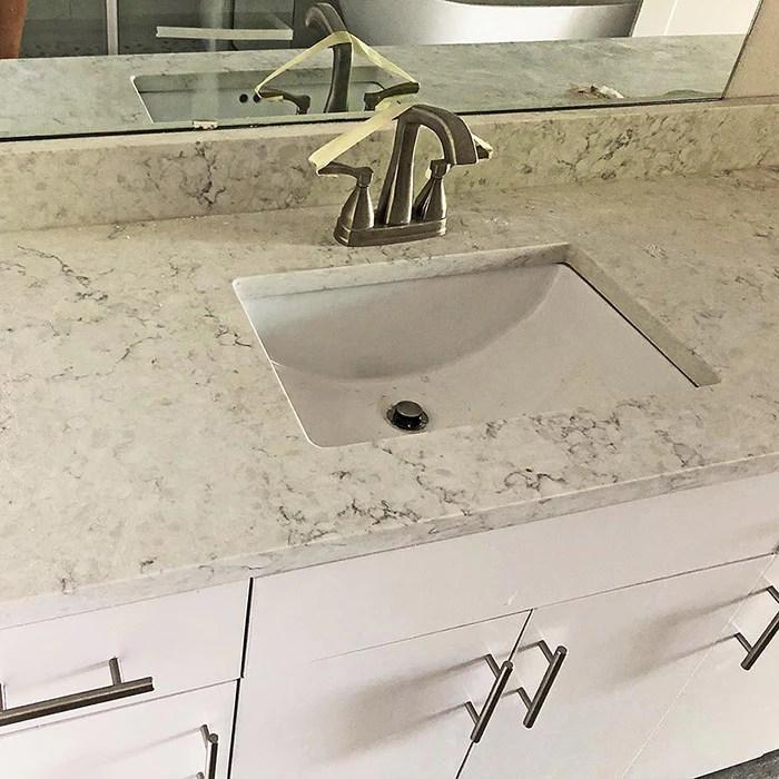 arctic ivory quartz vanity tops in