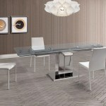 Glass Stainless 55 83 Conference Table By Whiteline Officedesk Com