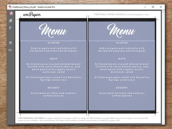 Chalkboard Wedding Menu Template   Download Our New Free Templates  Collection, Our Battle Tested Template Designs Are Proven To Land  Interviews.