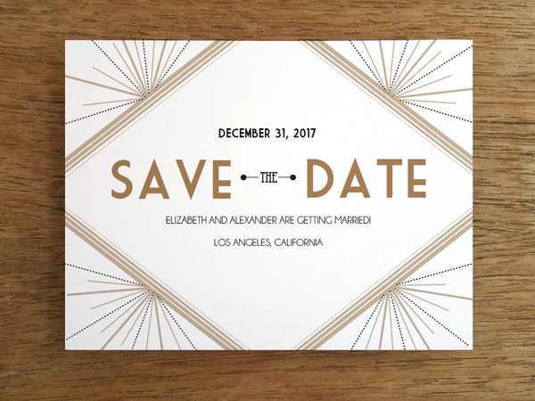 Printable Save The Date Deco Empapers