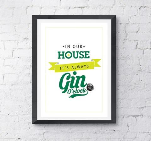 Gin O'clock Print