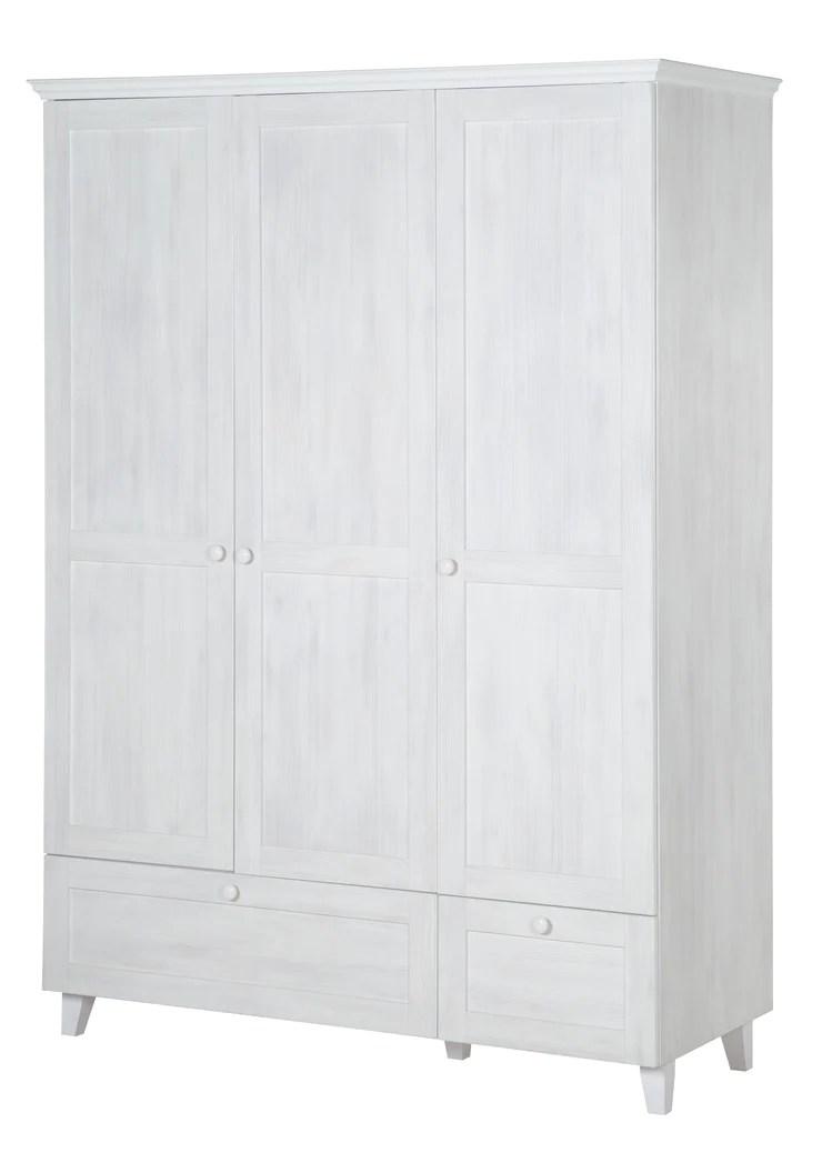 wardrobe sarah 3 doors 2 drawers clothes rack north white wood b roba