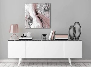 Blush Pink And Grey Swirl Living Room Canvas Wall Art Accessories Ab Wallfillers Co Uk