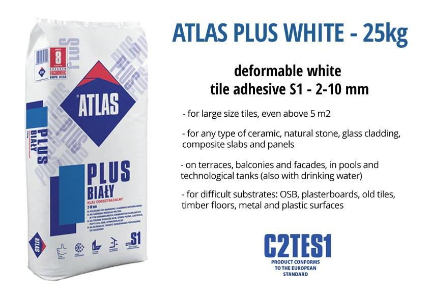 atlas plus white 25 kg c2tes1 tile adhesive buy online new zealand 4 trade shop