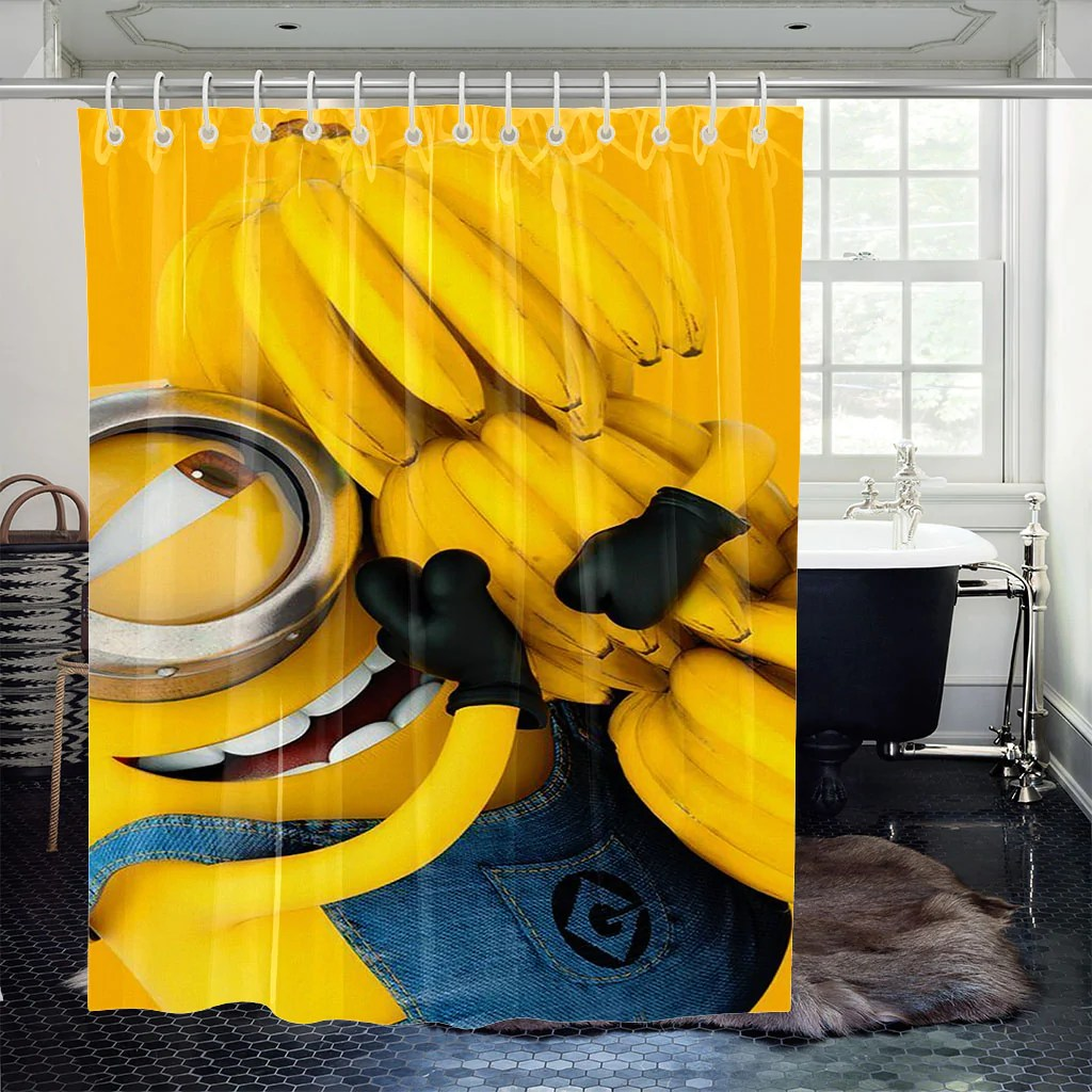 wallpaper minion shower curtains southcase