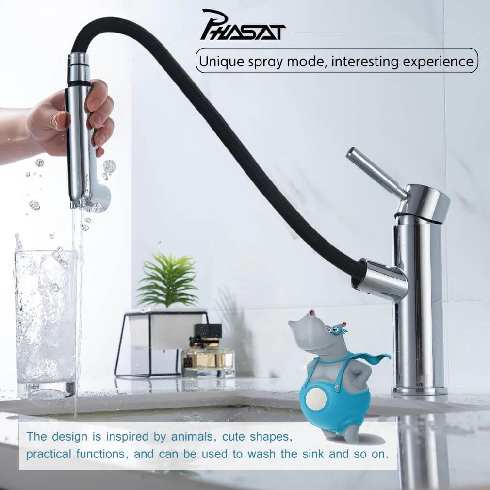 pull out sprayer bathroom basin sink