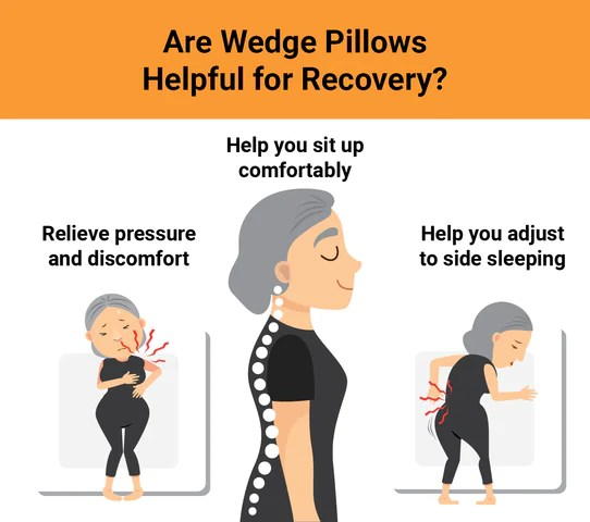 post surgery pillows recovery pillow