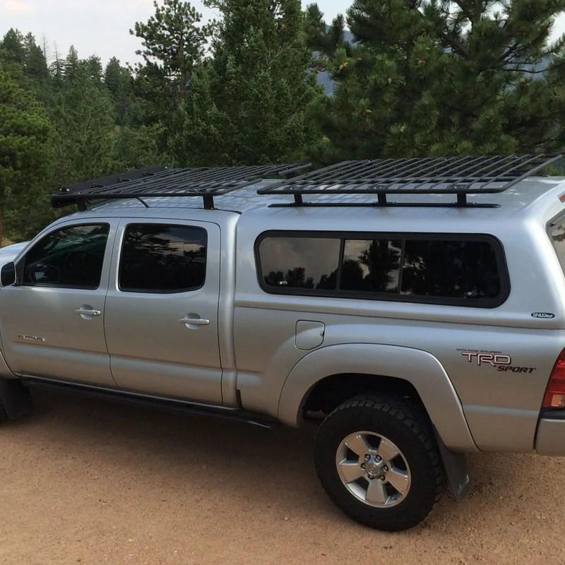 camper shell utility flat rack no