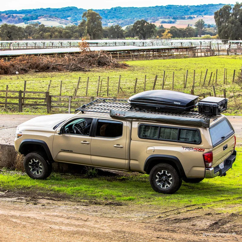 camper shell utility flat rack no wind deflector