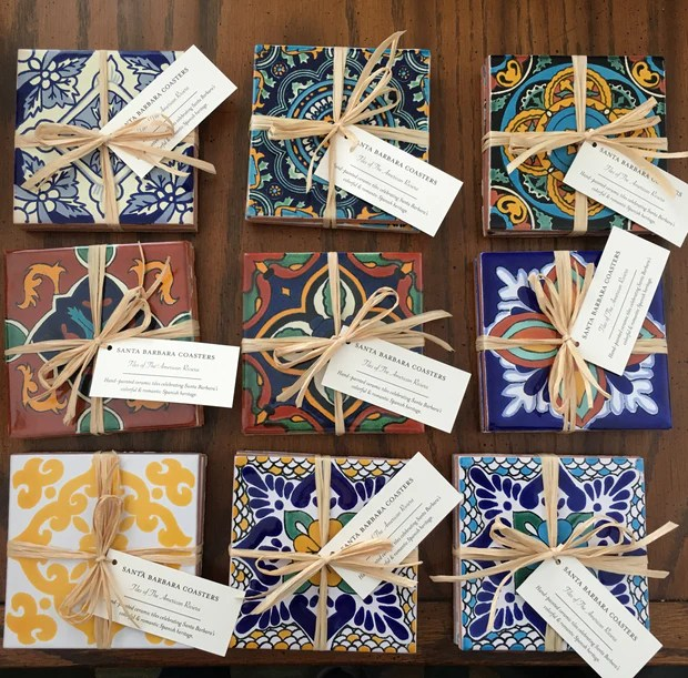 ceramic tile coasters santa barbara