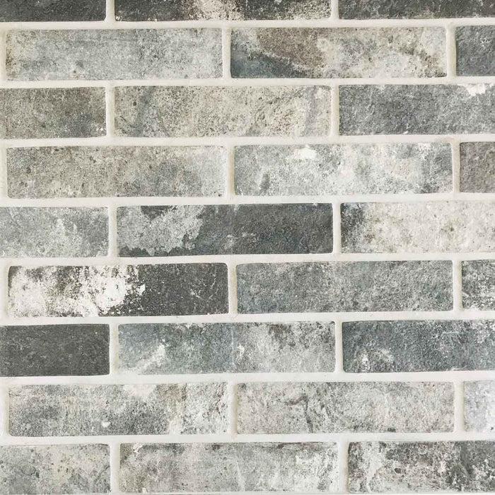 6x25cm london brick charcoal tile