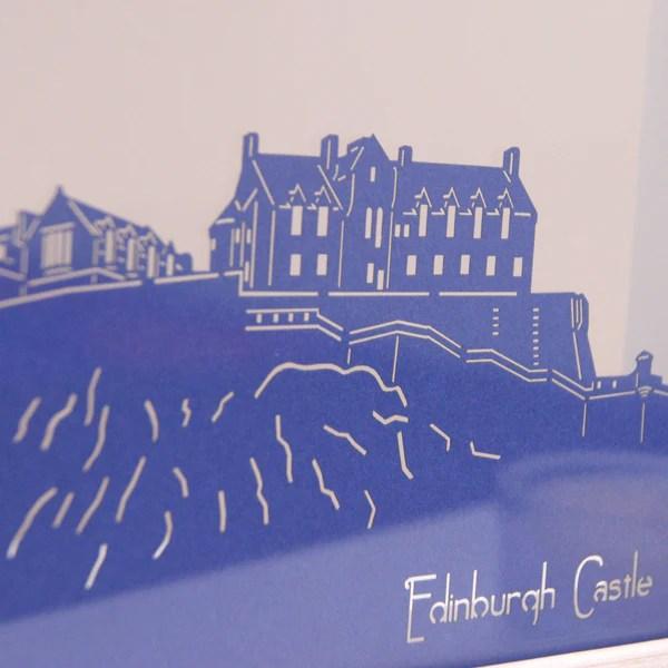 Edinburgh Castle Mini Panoramic Wall Art Urban Twist