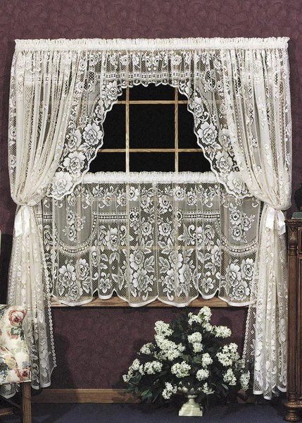 Heritage Lace Victorian Rose Collection CurtainsTablecloths Doil Olde Church Emporium