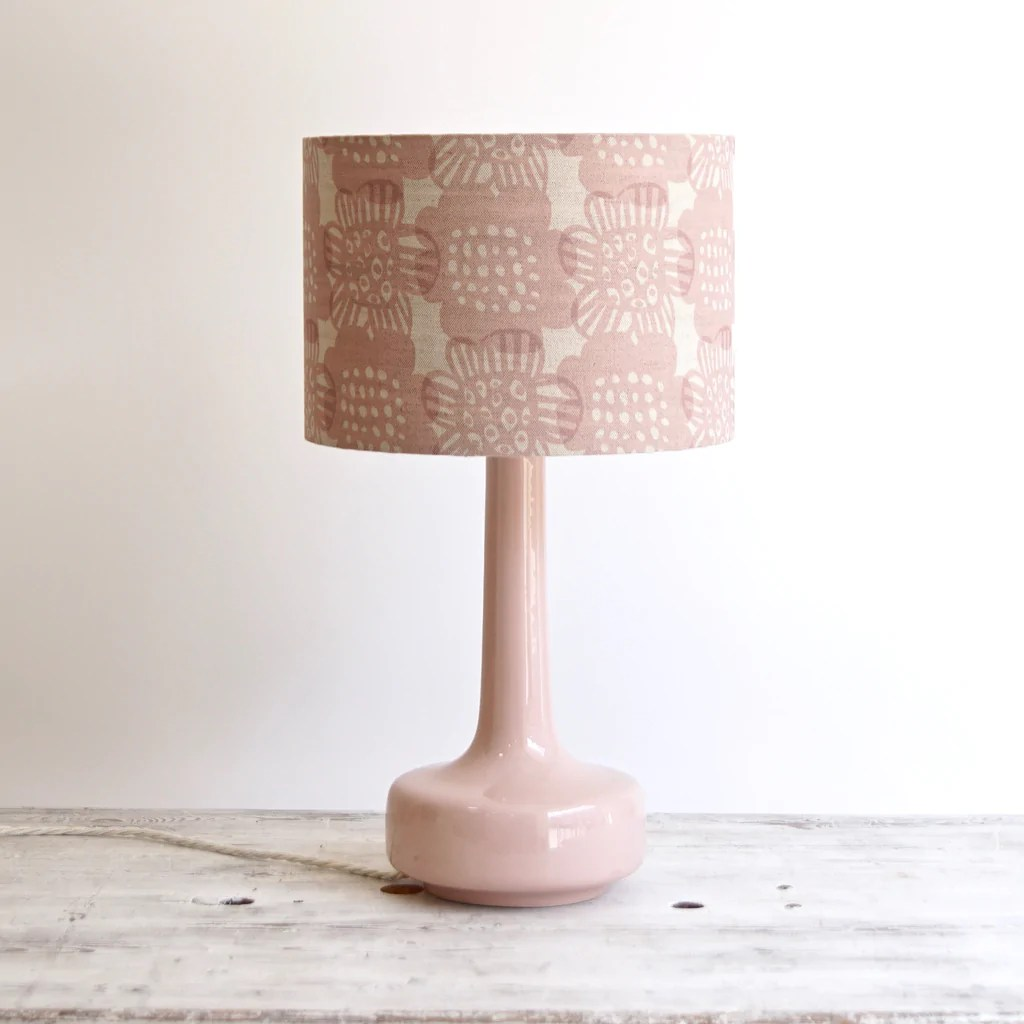 Bell Bottom Pink Table Lamp With Bloom Blush Shade Winter S Moon