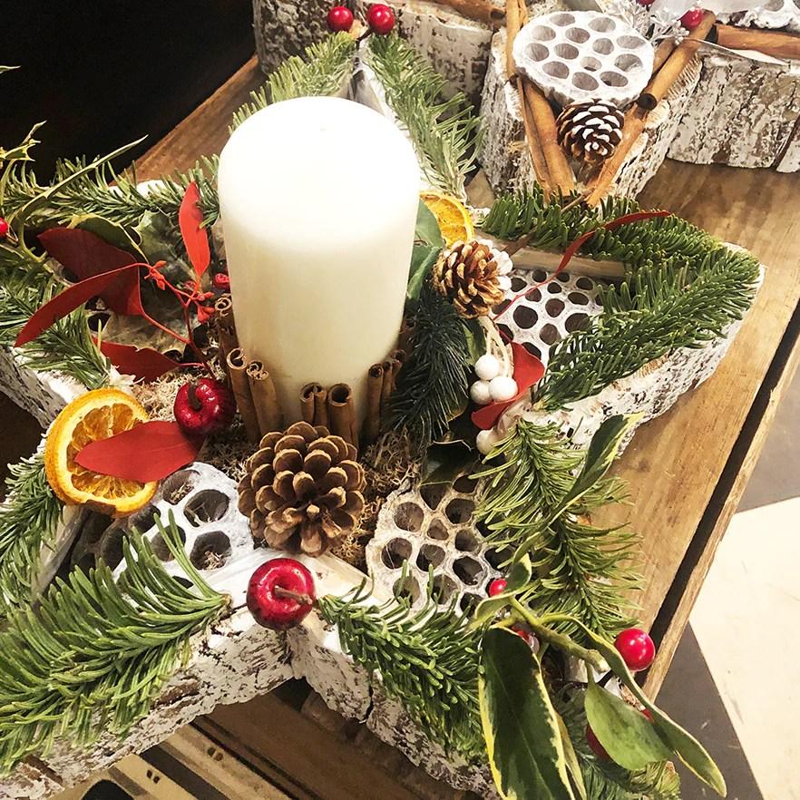 fresh christmas star table decoration
